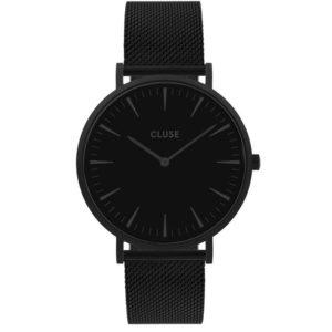 montre noire femme Cluse