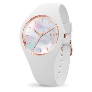 montre silicone blanche Ice pearl