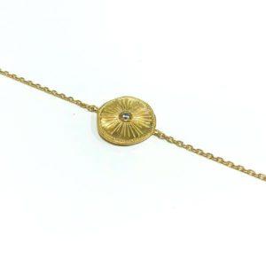 Bracelet plaqué or et zirconium