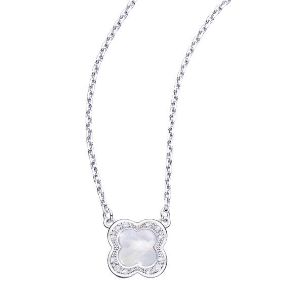 Pendentif nacre et diamants Mauboussin